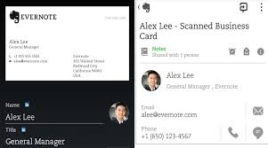 App To Scan Business Cards Evernote App Can Now Scan Business Cards Android Community