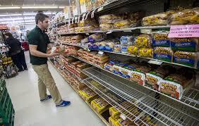 Washington travel supermarket images Blizzard forecast causes shopper rush for bread milk beer money jpg