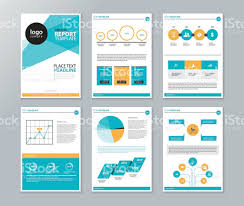page layout template for report and brochure with info graphic