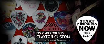 Design Your Own Clayton Home Clayton Usa Guitar Picks And Custom Guitar Picks