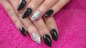 acrylic nails black full set youtube