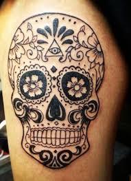 sugar skull meaning on thigh designs insigniatattoo com