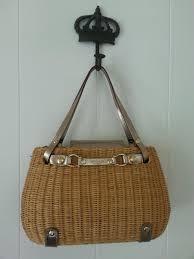 kate spade equestrian horse bit wicker purse bag natural u0026 gold