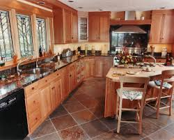 granite countertop modern oak cabinets microwave oven brand