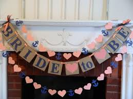 bridal shower banner phrases bridal shower decorations coral and navy to be banner