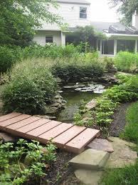 pond landscaping bridge fleagorcom
