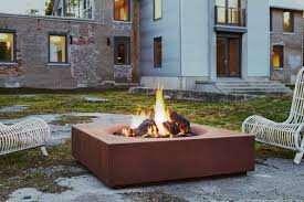 concrete fire pit exploding corten fire pit caldera outdoor fire pit csa ce certified