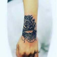 dantelli gül bilek dövmeleri bayan lace and rose wrist tattoos for