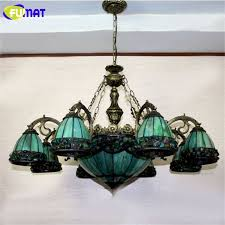 stained glass dining room light fumat stained glass chandelier european style green glass light