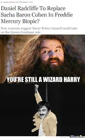 Daniel Radcliffe Meme - i heard that daniel radcliffe is going to play the role of freddie