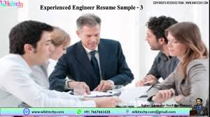 Cv For Experienced Professionals Experienced Engineer Resume Resume Samples For Experienced