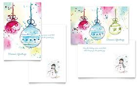 greeting card layout templates whimsical ornaments greeting card