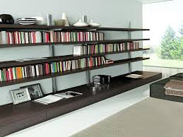 Bookcases For Office Wall Mounted Bookcase For Apartment Design Interior Ideas