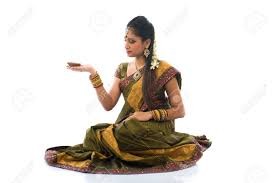 traditional indian with l during the celebration