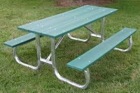 recycled plastic picnic tables recycled plastic galvanized frame picnic table by jayhawk plastics