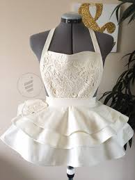 bridal shower ivory bride apron bridal apron wedding gift