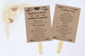 wedding fan program kits wedding fan program diy paper kit daveyard b6626ff271f2
