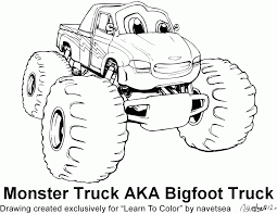 bigfoot monster truck coloring pages printable ghostbusters coloring pages kids colorine net 15948