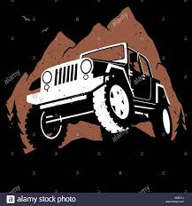 cartoon jeep side view 4x4 stock vector images alamy