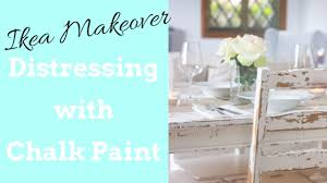 distressing with chalk paint ikea makeover table and chairs