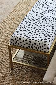 Fabric Benches For Bedrooms Dwellings By Devore Gold Upholstered Bench Tutorial Ikea Hack