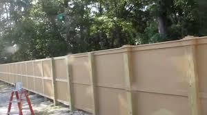 hardie board fence youtube