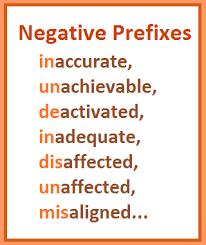 practice negative prefixes
