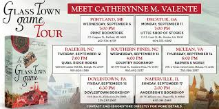 Barnes And Noble Doylestown Pa The Glass Town Game Tour Catherynne M Valente