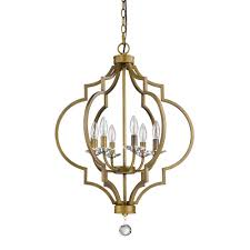 brass cage chandeliers hanging lights the home depot