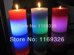 wholesale new 2016 magic color changing pillar candles led candls