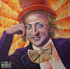 willy wonka acrylic on canvas jim mckenzie