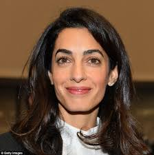 is amal clooney hair one length amal clooney set to fly out to fight for tortured republican