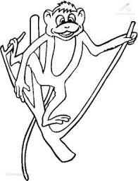 hanging monkey coloring page art schoolin u0027 pinterest monkey