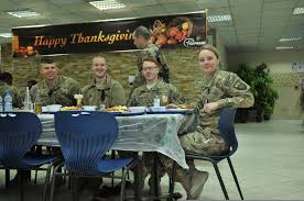 file u s soldiers eat thanksgiving dinner at international
