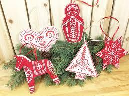 faux stitched scandinavian ornaments kunin felt