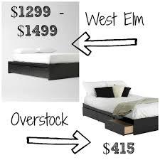 West Elm Platform Bed West Elm Storage Platform Bed Frame Decor Look Alikes