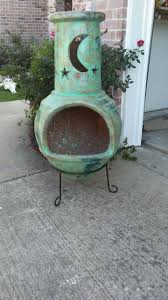 halloween chiminea turquoise moon and stars chimenea chiminea for sale in wylie tx