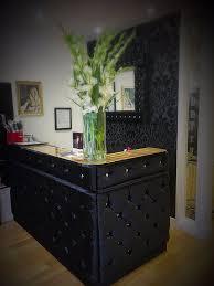 Tufted Salon Reception Desk Attractive Velvet Reception Desk Popular Black Velvet Tufted