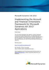 microsoft dynamics ax 2012 implementing the account and