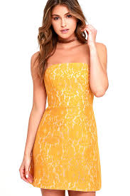 keepsake dresses keepsake every way dress yellow dress lace dress strapless
