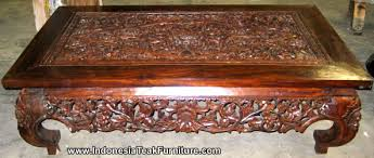 carved wood coffee table wood coffee table from bali indonesia teak wood table with handcarvings