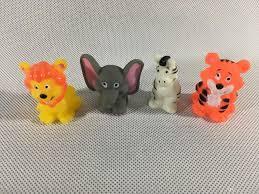 animal rubber finger puppets lion tiger figures finger toy kids
