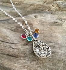 personalized family tree necklace personalized family tree necklace birthstone necklace