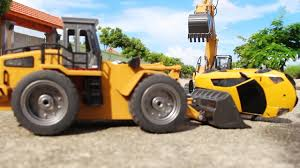 construction trucks for kids real loader trucks with excavator