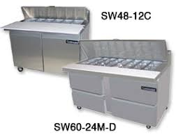 continental pizza prep table sandwich prep table refrigeration by continental