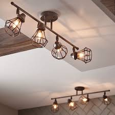 4 Light Ceiling Fixture Shop Kichler Lighting Bayley 4 Light Olde Bronze Fixed Track Light