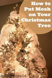 christmas how to decorateas tree with ribbon picture