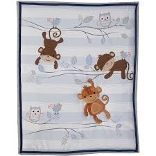 Monkey Curtains Nursery Lambs U0026 Ivy Bedtime Originals Mod Monkey 3 Piece Crib Bedding Set