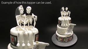 skeleton cake topper skeleton and groom cake topper tutorial by yeners way