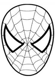 print color spiderman tete spiderman colorier
